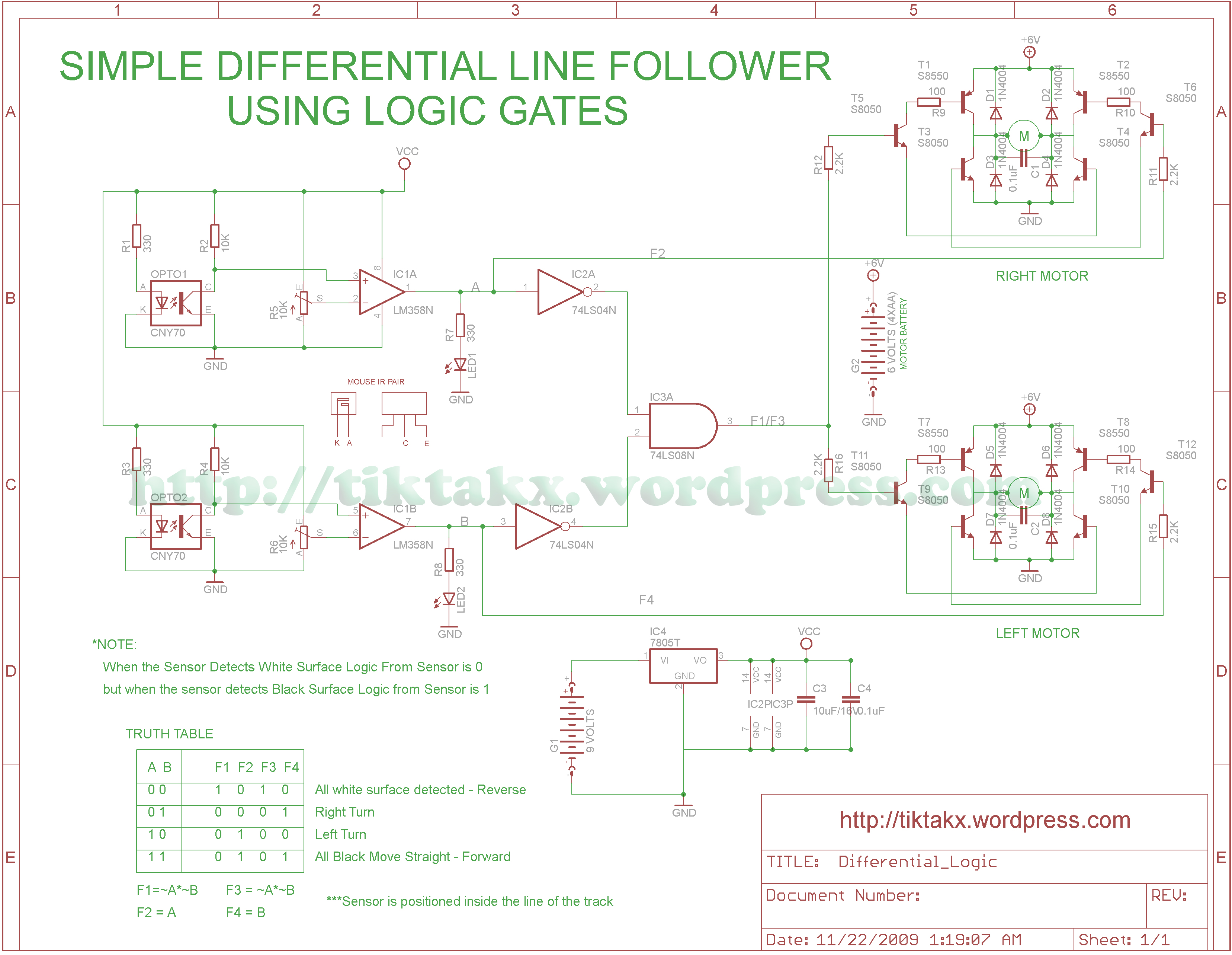 Differential Mobot Using Logic Gates Tiktaks Projects Circuit Diagram Like This
