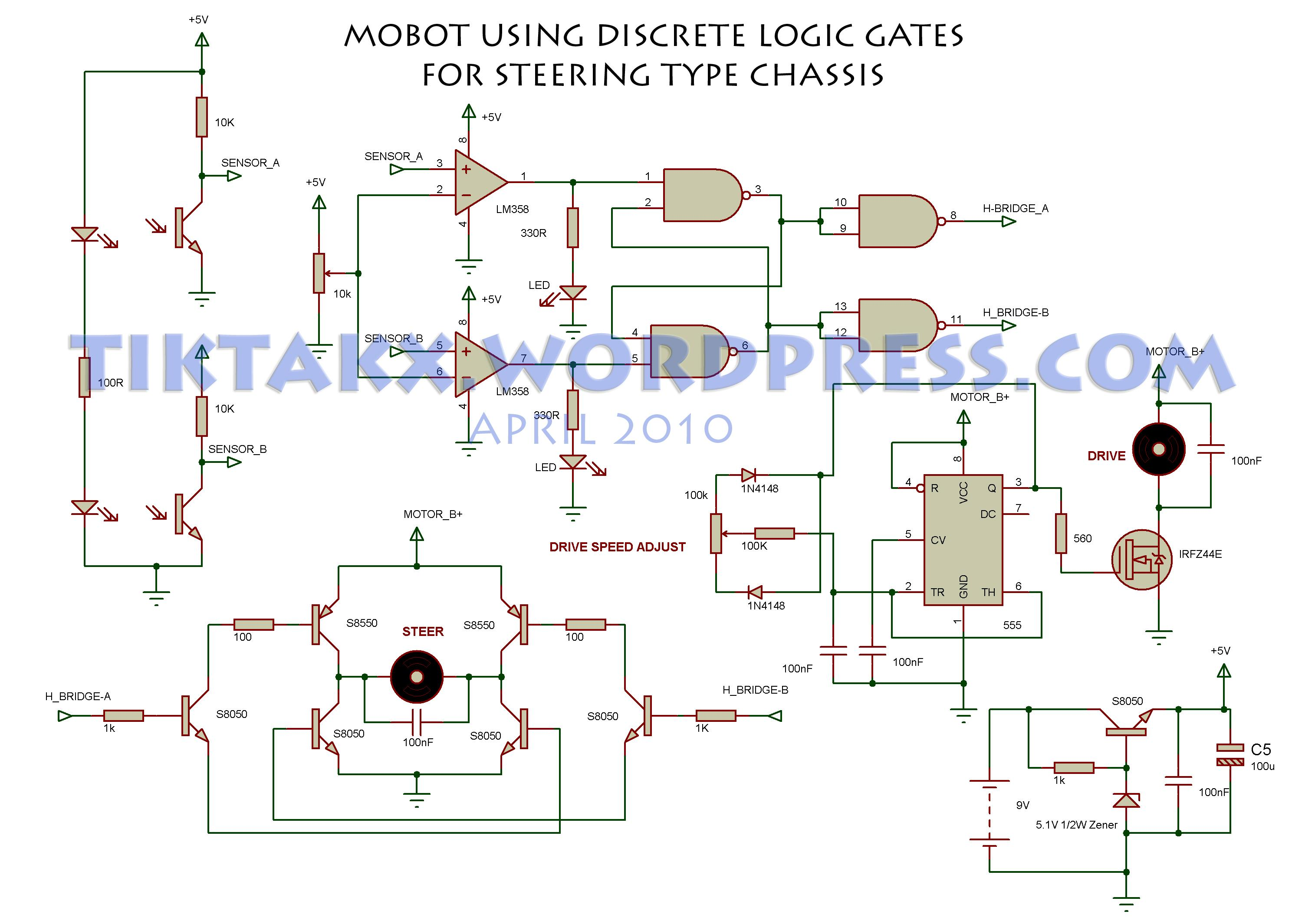For Gate Remote Controller Schematic Question About Wiring Diagram Circuits Gt Low Voltage Mains Switch L46899 Nextgr Logic Mobot Tiktak S Projects Xor Or Ic